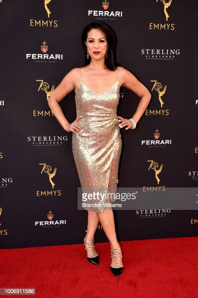 News presenter Cher Calvin attends the 70th Los Angeles Area Emmy Awards at Saban Media Center on July 28 2018 in North Hollywood California