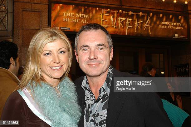 News presenter Jennifer Hansen and husband actor Alan Fletcher attend the world premiere of the musical 'Eureka' at Her Majesty's Theatre October 8...