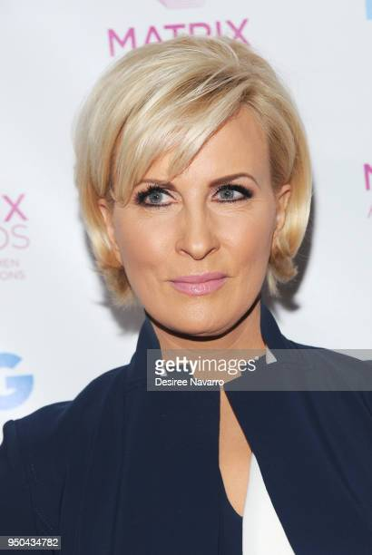 News presenter Mika Brzezinski attends 2018 Matrix Awards at Sheraton New York Times Square on April 23 2018 in New York City