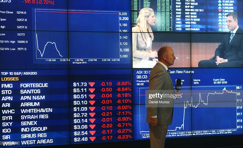 ASX Braces For Share Plunge Following Worldwide Market Losses : News Photo