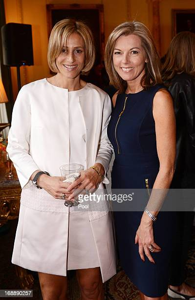 News presenters Emily Maitlis and Mary Nightingale attend a reception hosted by the Prime Minister David Cameron to celebrate the achievements of...