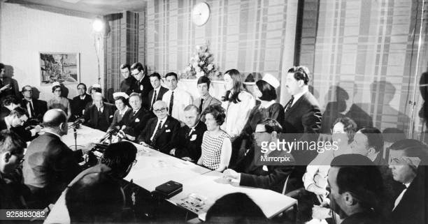 News press conference after Britain's first heart transplant was successfully carried out by a team of 18 doctors and nurses at the National Heart...