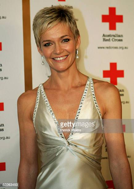 News reader Jessica Rowe attends the Australian Red Cross 90th Anniversary Gala at the Westin Hotel March 2 2005 in Sydney Australia