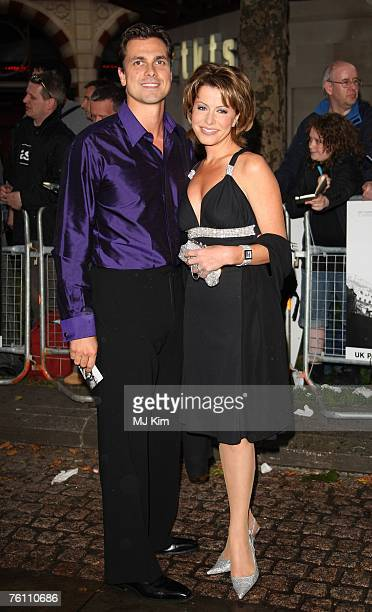 News reader Natasha Kaplinsky and husband Justin Bower arrive at the The Bourne Ultimatum UK film premiere at the Odeon Leicester Square on August 15...