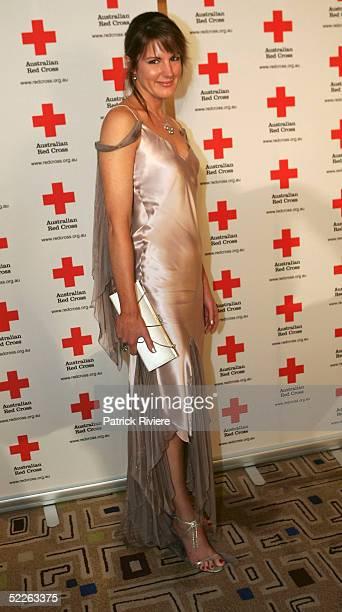 TV news reader Sharyn Ghidella attends the Australian Red Cross 90th Anniversary Gala at the Westin Hotel March 2 2005 in Sydney Australia