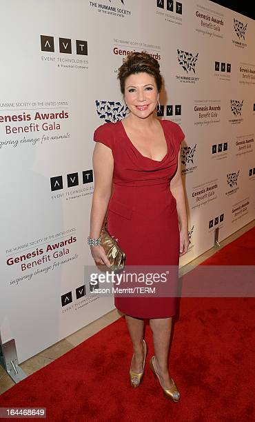 TV news reporter Ana Garcia attends The Humane Society of the United States 2013 Genesis Awards Benefit Gala at The Beverly Hilton Hotel on March 23...