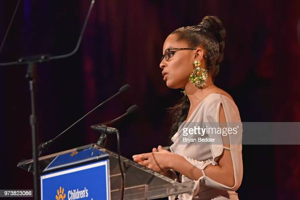 News Reporter Antonia Hylton speaks onstage during the Children's Health Fund 2018 Annual Benefit at Cipriani 42nd Street on June 13 2018 in New York...