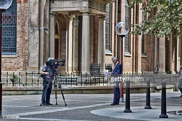 TV news reporter in Sydney