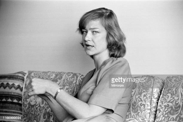 BBC News reporter Kate Adie at home near Kew London 12th May 1980