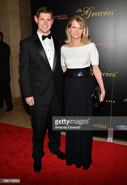 News reporter Martha Raddatz and her son Jake Genachowski arrive at the 38th Annual Gracie Awards Gala at The Beverly Hilton Hotel on May 21 2013 in...