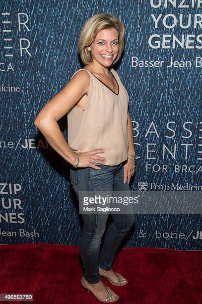 News Reporter Stacy Sager attends the 2015 Basser Center For BRCA Benefit at Cipriani Wall Street on November 10 2015 in New York City