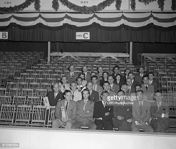 News reports from the 1948 Republican National Convention Philadelphia Pennsylvania June 20 1948 Pictured from CBS News Front row John Daly Howard K...