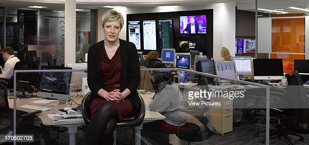 TV news room with presenter ITV Meridian Studio Office Europe United Kingdom Hampshire Moxon