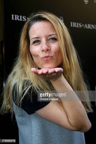 News speaker Miriam Lange of RTL poses during the Iris von Arnim store opening on June 10 2015 in Duesseldorf Germany
