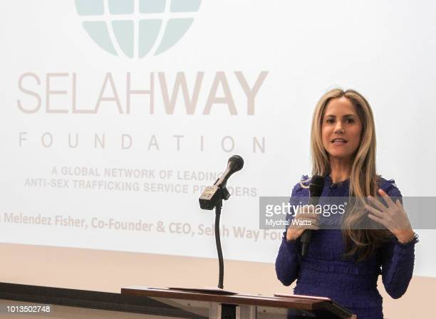 News Sports Anchor and pregame host for the New York Giants Andy Adler attends the Selah Way Foundation Luncheon at Wells Fargo 42nd St on August 8...