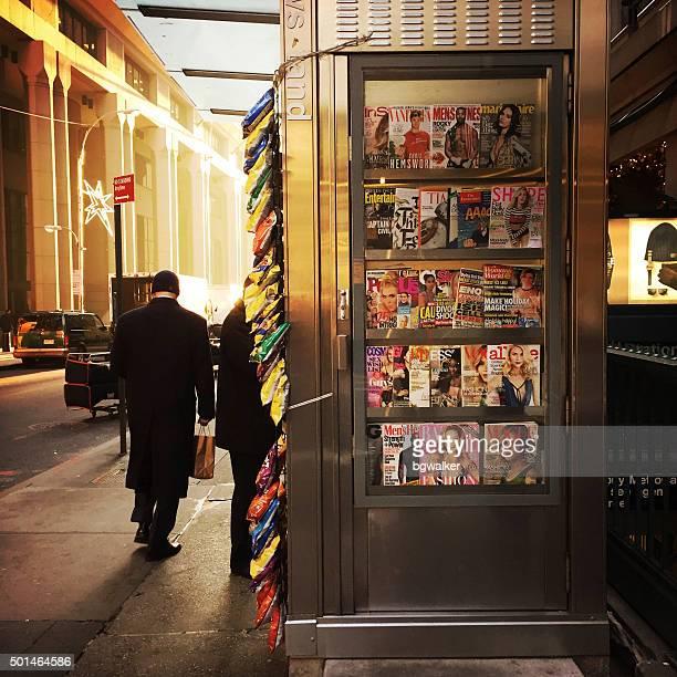 Zeitungsstand im Finanzviertel in NYC
