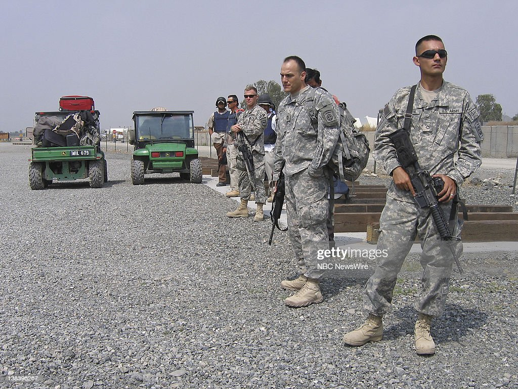 NBC News -- US ARMY IN AFGHANISTAN -- Pictured: US ...