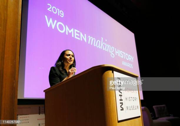 News White House Correspondent Kristen Welker speaks onstage during the National Women's History Museum's Women Making History Awards at Carnegie...