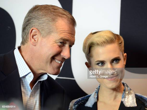 Newscaster Brian Williams and actress/daughter Allison Williams arrive for the Screening Of Universal Pictures' 'Get Out' held at Regal LA Live...