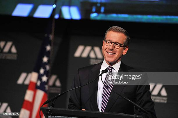 Newscaster Brian Williams speaks at IAVA's Sixth Annual Heroes Gala at Cipriani 42nd Street on November 13 2012 in New York City