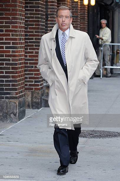 Newscaster Brian Williams visits the 'Late Show With David Letterman' taping at the Ed Sullivan Theater on August 23 2010 in New York City