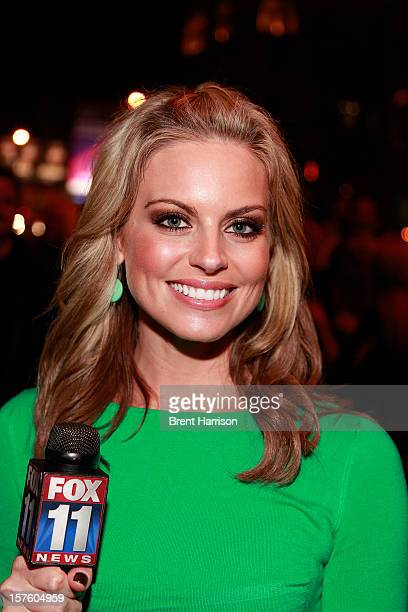 Newscaster Courtney Friel at House of Blues 20th anniversary celebration event on Sunset Strip on December 4 2012 in West Hollywood California