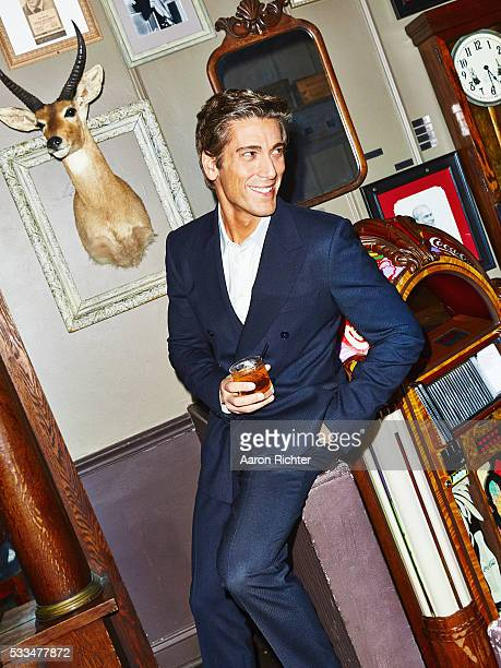 Newscaster David Muir is photographed for Esquire in 2014 in New York City