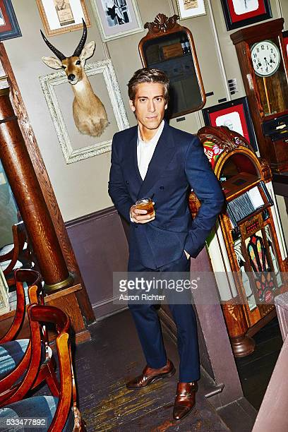 Newscaster David Muir is photographed for Esquire in 2014 in New York City PUBLISHED IMAGE