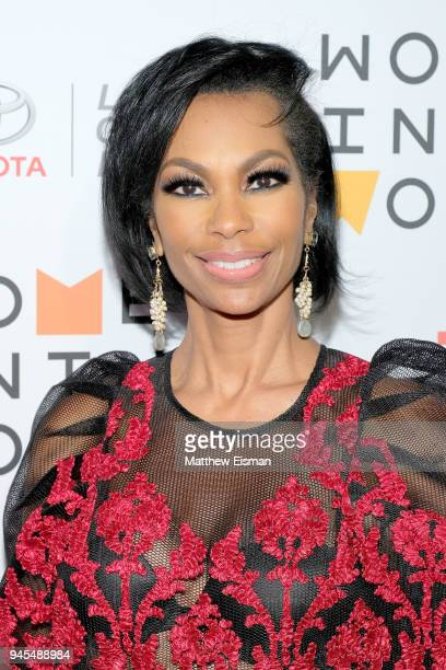Newscaster Harris Faulkner attends the 2018 Women In The World Summit at Lincoln Center on April 12 2018 in New York City