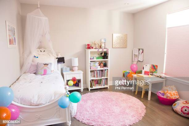 Newscaster Harris Faulkner's home is photographed for Closer Weekly Magazine on March 22 2017 in northern New Jersey Youngest daughter's bedroom...