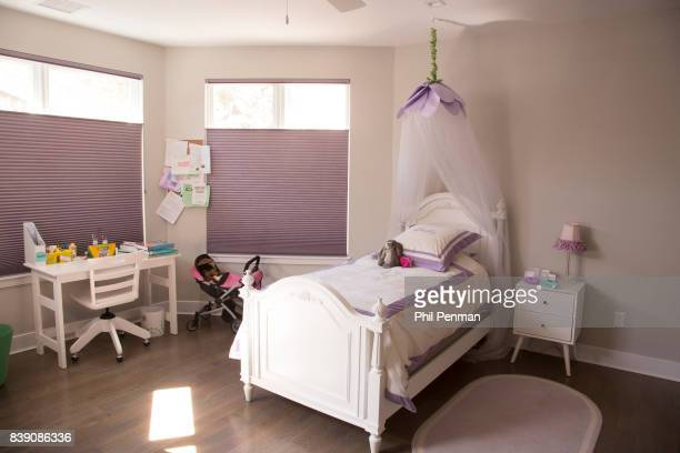 Newscaster Harris Faulkner's home is photographed for Closer Weekly Magazine on March 22 2017 in northern New Jersey Older daughter's bedroom