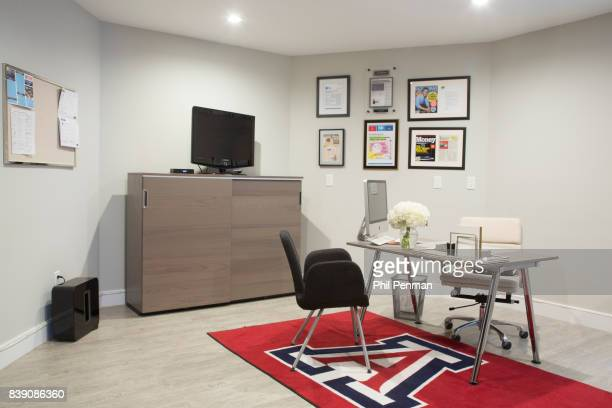 Newscaster Harris Faulkner's home is photographed for Closer Weekly Magazine on March 22 2017 in northern New Jersey Office and 'sports suite'