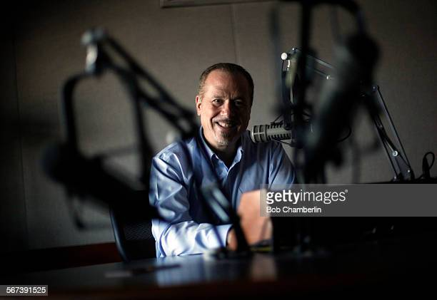 AM newscaster Phil Hulett who now does a podcast called 'Phil Hulett and Friends' talked about all news radio 'KFWB' on AUGUST 28 2014 at his radio...