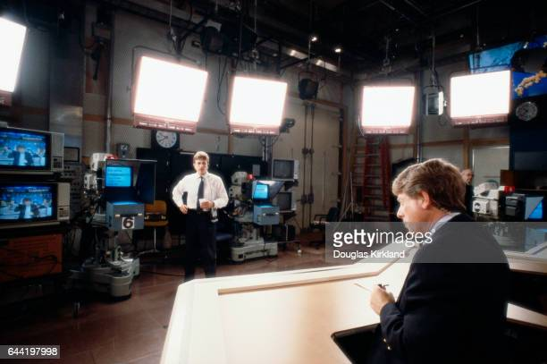 Newscaster Ted Koppel appears on the ABC program Nightline Koppel has been anchor of the news program since its creation in 1980