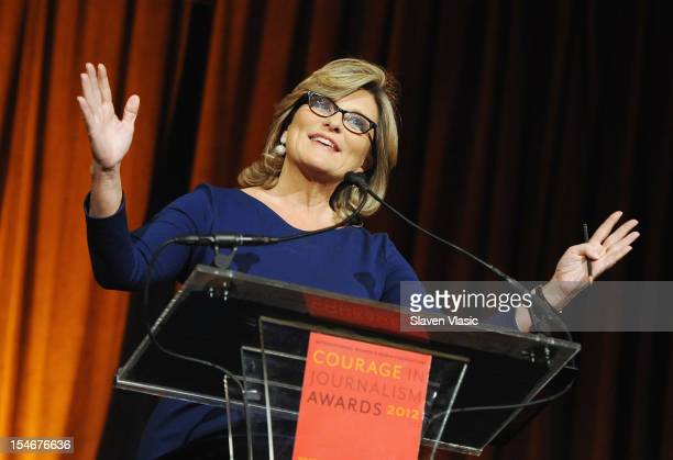 TV newscaster/journalist Cynthia McFadden attends the 2012 Courage In Journalism Awards Luncheon at Cipriani 42nd Street on October 24 2012 in New...