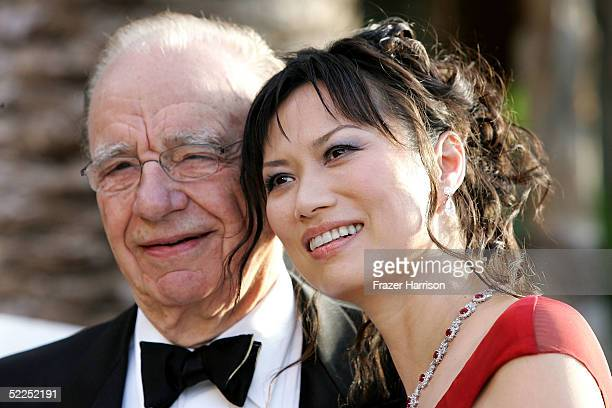 NewsCorp CEO Rupert Murdoch and wife Wendy Deng arrive at the Vanity Fair Oscar Party at Mortons on February 27 2005 in West Hollywood California