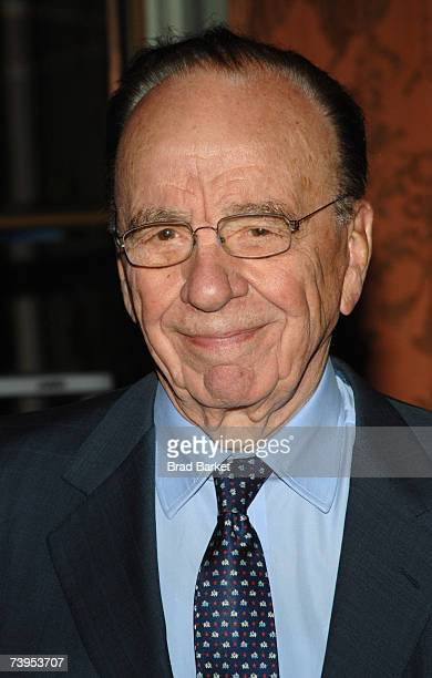 NewsCorp's Rupert Murdoch arrives to the New York Women in Communications 2007 Matrix Awards at the Waldorf Astoria on April 23, 2007 in New York...