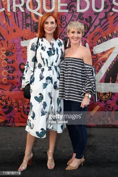 Newshub's Samantha Hayes and Ingrid Hipkiss attenda opening night of Cirque du Soleil KOOZA on February 15 2019 in Auckland New Zealand