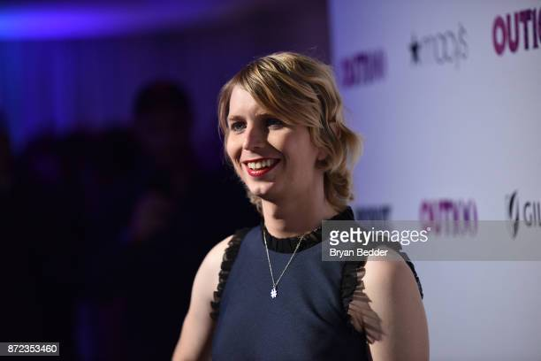Newsmaker of the Year Chelsea Manning attends OUT Magazine #OUT100 Event presented by Lexus at the the Altman Building on November 9 2017 in New York...