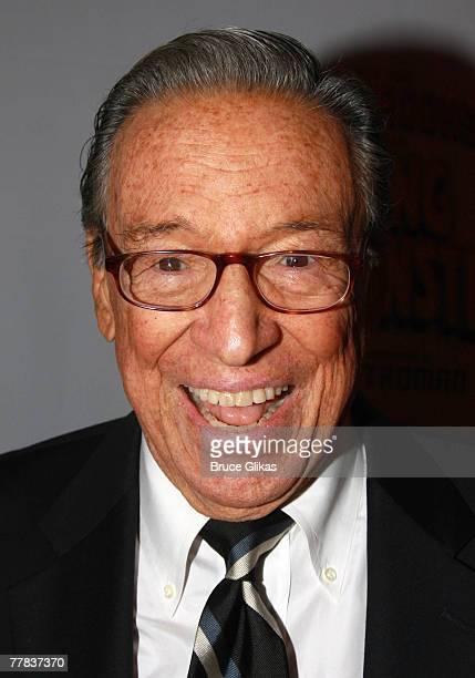Newsman Mike Wallace arrives at The Opening Night of Mel Brooks New Musical Young Frankenstein on Broadway on November 8 2007 at The Hilton Theater...