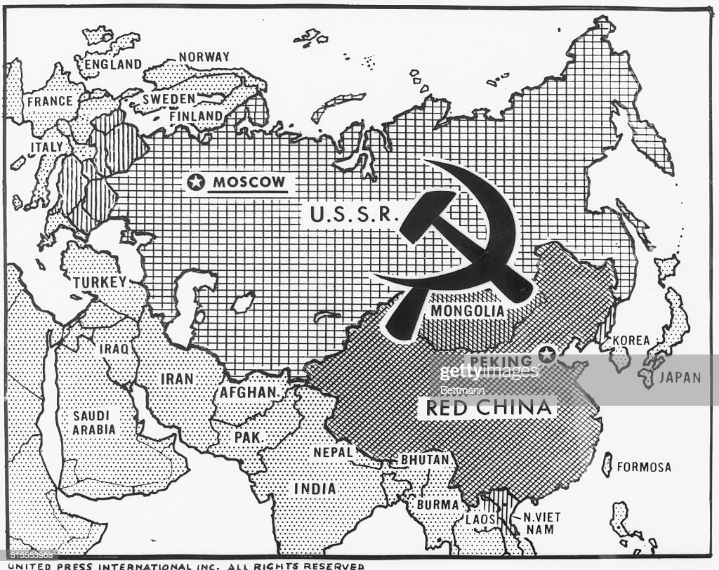 Great Decisions Map of Communist Countries Pictures | Getty Images