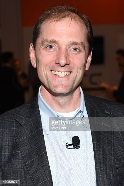 NewsON CEO Louis Gump poses at the Digital Disruptors panel during Advertising Week 2015 AWXII at the ADARA Stage at Times Center Hall on September...