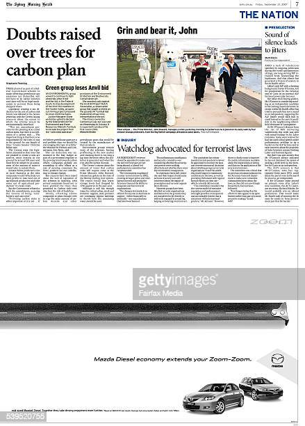 Newspaper article 'Doubts Raised Over Trees for Carbon Plan' page 7