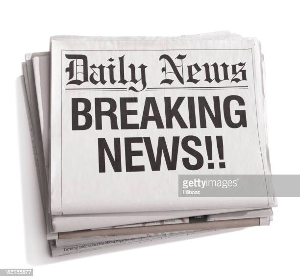 Breaking News: Newspaper Headline Stock Photos And Pictures