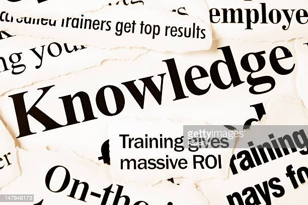 Newspaper headlines on knowledge, training and results