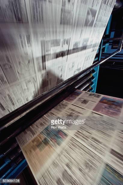 Newspaper in Printing Press