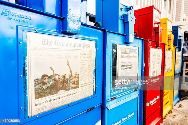 newspaper kiosks in a row - kiosk stock pictures, royalty-free photos & images