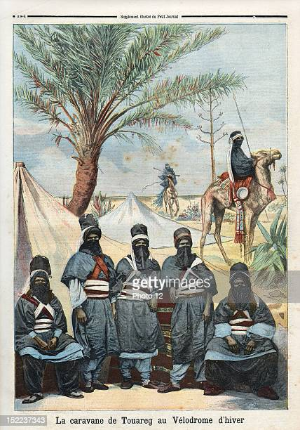 Newspaper of Monday 4th june 1894, N°185, Group of people from Touareg at veldrome desert in winter.