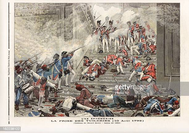 Newspaper of Saturday 13th August 1892, N°90, Storm of the Tuileries, 10th August 1792, Painting by Henry Motte, room of 1892.