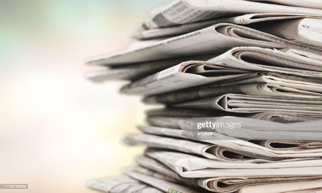 Newspaper. : Stock Photo